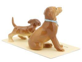 Hagen Renaker Dog & Puppy Labrador Retriever Golden Ceramic Figurine Set image 5