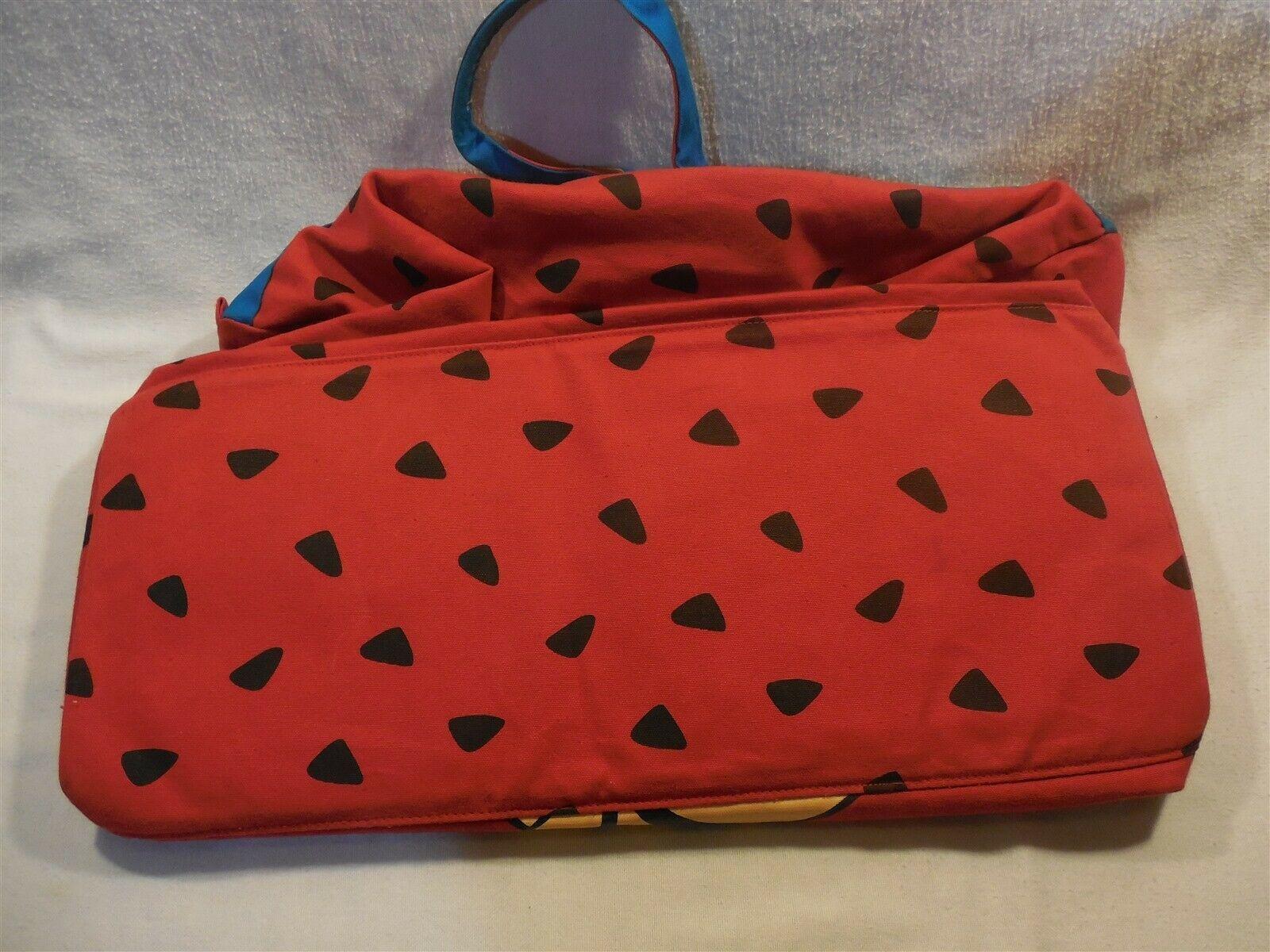Flintstones 1994 Large Canvas Bone Zippered Duffel Bag w/Betty Rubble