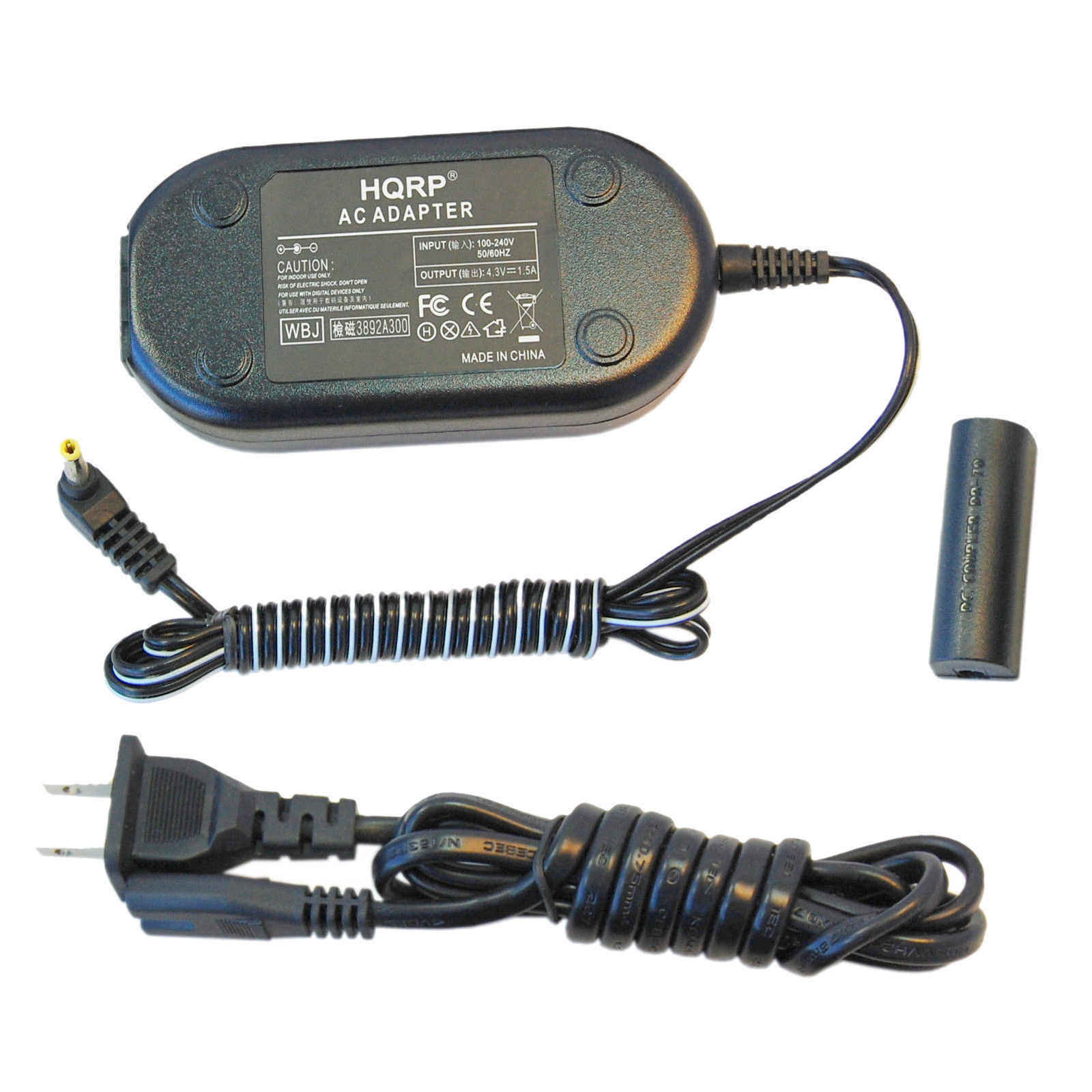 HQRP AC Adapter + DC Coupler for Canon PowerShot IXUS 500 510 1000 1100 HS NB-9L - $22.74