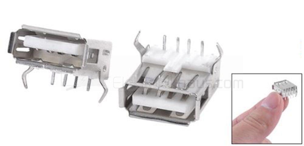 4 x USB Buchse Typ A Leiterplattenmontage print