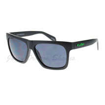 KUSH Matte Black Square Frame Sunglasses Unisex Fashion - $7.95