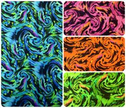 Fantastic Storm Swirl Big Pattern on Heavy Stretch Polyester Spandex Fabric - $2.96+