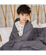 ZonLi Kids Weighted Blanket 10 lbs 41''x60'', Grey Soft Weighted Blanket... - $52.54