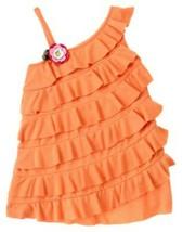 "Nwt Gymboree Girls ""Floral Reef"" Orange Tiered Knit Top 3-6 Months - $5.39"