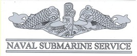 NAVY NAVAL SUBMARINE SERVICE ENLISTED SILVER DECAL - $15.33