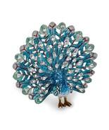 Bejeweled Blue Peacock Trinket Box - $78.99