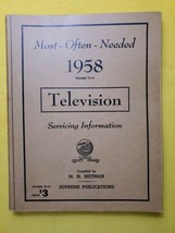 Vintage 1958 Most Often Needed Television Servicing MANUAL  Beitman Supr... - $14.50