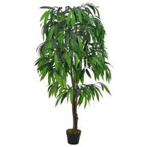 "vidaXL Artificial Plant Mango Tree with Pot Green 55.1"" Faux Plant Leaf ... - $68.99"