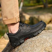 Non Shoes slip BOLE Men Sneakers Sole Real Genuine Men Casual for Leather Rubber wwUI8qzO