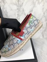 100% Authentic GUCCI MONOGRAM Slip On Logo Espadrilles Shoes Flats 37 image 6