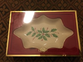 "Lenox Holiday Dimension Scalloped 8-3/4"" Open Candy Dish (MIOB) - $23.00"