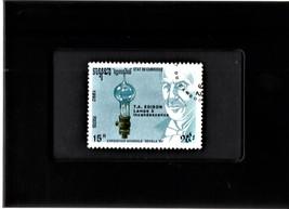 Tchotchke Framed Stamp Art Collectable Postage Stamp - Thomas Alva Edison - $8.95