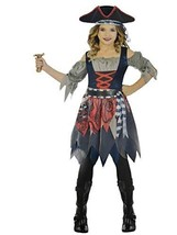 Amscan Castaway Cutie Pirate Costume, Girl's Small, 4-6 Blue, Grey - $44.05