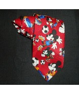 DISNEY MICKEY MOUSE PLAYING SOCCER SPORT UNLIMITED MEN'S DRESS TIE RED N... - $9.50