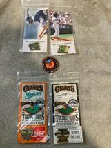 5) San Francisco Giants Baseball Pins Mlb Free Ship Vgc - $27.00