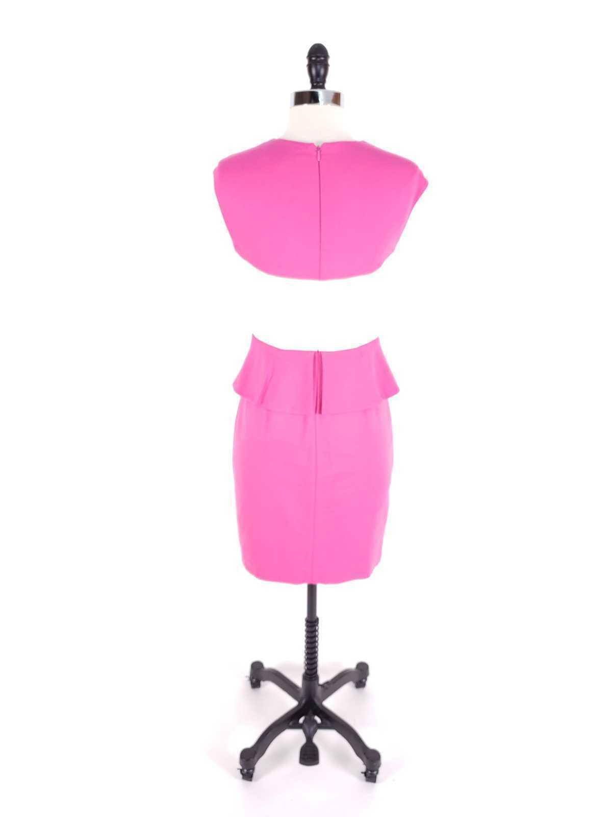 Cynthia Steffe Women Dress Size 2 NWT $198 Peplum Pencil Ponte Knit Sleeveless image 4