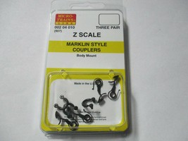 Micro-Trains Stock # 00204010 #907 Marklin Style Couplers Body Mount (Z Scale) image 1