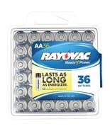 Rayovac Alkaline Batteries Reclosable Pro Pack (aa, 36 Pk) RVC81536PPF - $33.03