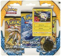 Pokemon TCG: Sun & Moon Three-Booster Blister Game - $20.27