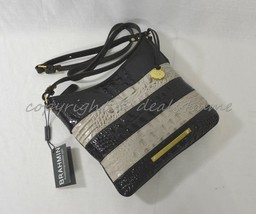 NWT Brahmin Jody Striped Cross-Body/Shoulder Bag in Angora Vineyard - $179.00