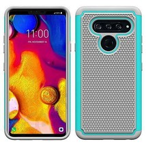 LG V40 ThinQ CaseUltraThin AntiSlip Armor Silicone Rubber Hybrid Cover Mint - $14.88