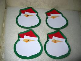 4 CHRISTMAS SANTA LUNCHEON PLATES - $15.00