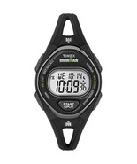 Timex IRONMAN® Sleek 50 Mid-Size Silicone Women's Watch - Black - $75.96