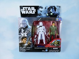 STAR WARS Action Figures First Order SNOWTROOPER OFFICER & POE DAMERON 3... - $15.75 CAD