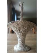 Antique 1890s Barbour Silver Co Large Silverplate Brides Bridal Basket - $277.19