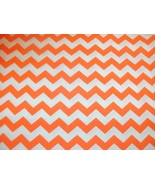 "Chevron Quilt Fabric 1/2"" Stripe Orange Zigzags Stripes BTY - $7.99"