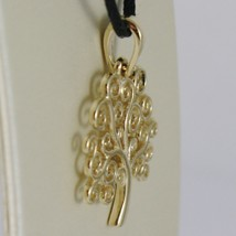 18K YELLOW GOLD TREE OF LIFE PENDANT, CHARM, 0.95 INCHES, 24 mm, MADE IN ITALY  image 2