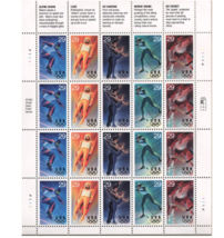 Winter Olympics Sheet of Twenty 29 Cents Stamps Scott 2807-11 - $9.92