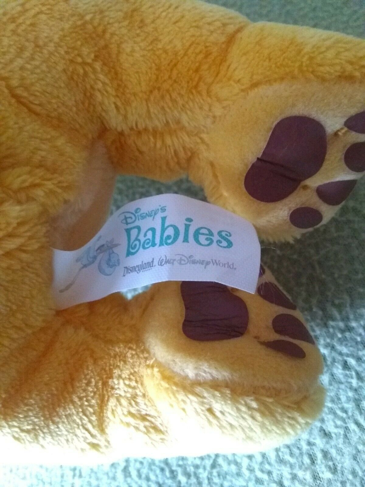 "DISNEY BABIES The Lion King SIMBA Plush Stuffed Animal 11"" NO BLANKET"