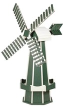 6½ FOOT JUMBO POLY WINDMILL - Green & White Working JETS Weathervane Ami... - £402.54 GBP