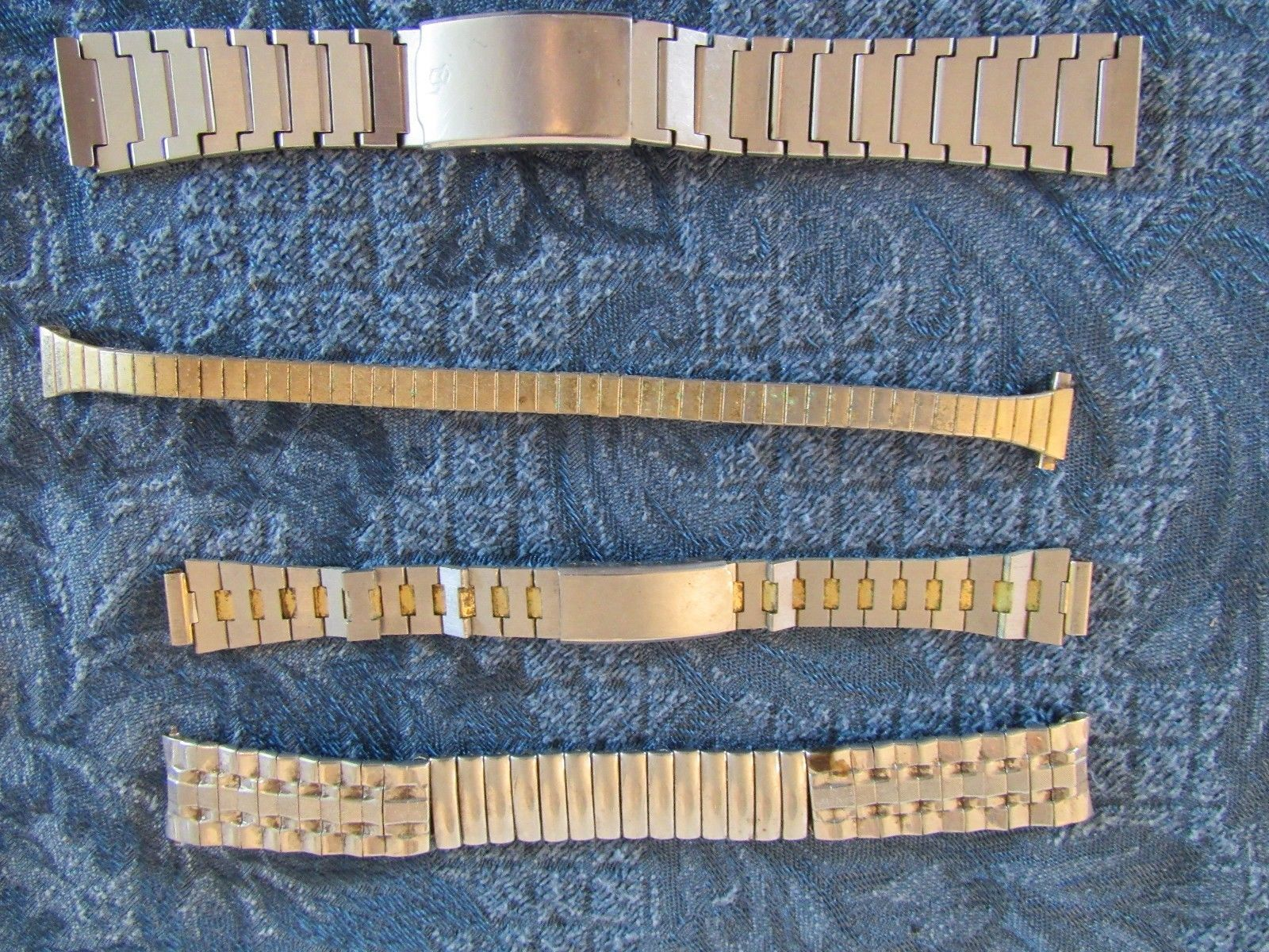 Vintage Lot Of 21 Metal Watch Bands Champion Speidel Other Stainless Steel