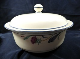 """Lenox Chinastone  Poppies On Blue Round Covered 9 3/4"""" serving bowl - $100.24"""