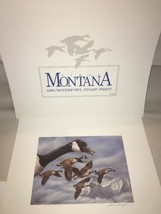 1986 First Montana Waterfowl Print & Stamp  Signed  by Joe Thornbrugh  - $54.45