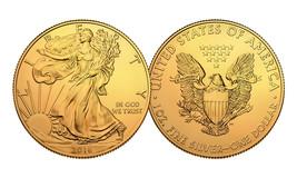 2016 Genuine 1 oz .999 Silver American Eagle U.S. Coin - Full 24KT Gold ... - $37.36