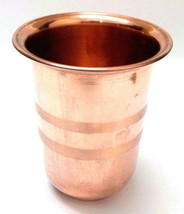 Classy 100% Copper 300 ml Drinking Glass Cup Tumbler Mug - Ayurveda Heal... - $9.39