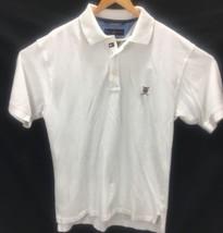 Tommy Hilfiger Mens Polo Large Golf Short Sleeve W Logo White  - $13.40
