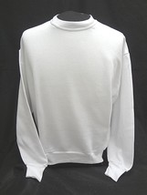 Jerzees Nublend Crewneck Long Sleeve Sweatshirt White ~ Size Adult Large ~ Nwot - $7.69