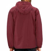 Men's Water Resistant Windbreaker Hooded Half Zip Pullover Rain Jacket image 9