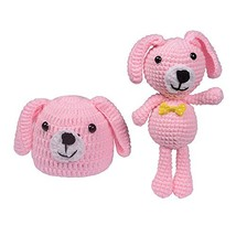 ISOCUTE Newborn Baby Knit Hat Beanie with Dog Doll for Infant Boy Girl P... - $15.63