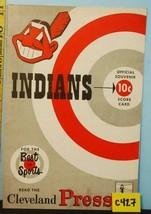 1952 Cleveland Indians Baseball Program v White Sox Scored C427 - $34.65
