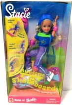 1999 Mattel Awesome Skateboard Stacie Doll No. 24644 NRFB NEW - $29.01