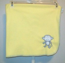 Circo Yellow Fleece Gray Stitching Monkey Baby Blanket - $287,58 MXN