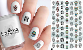 Day of the Dead Sugar Skull Nail Decals (Set of 63) - $4.95