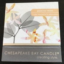 Chesapeake Bay Candle Jasmine Mint Scented 9.5 Oz Opaque Glass Hand Poured - $11.39