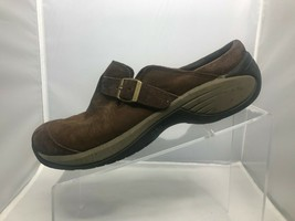 Merrell Encore Buckle Clogs Shoes Womens Size 10 Bracken Brown Leather  - $29.69