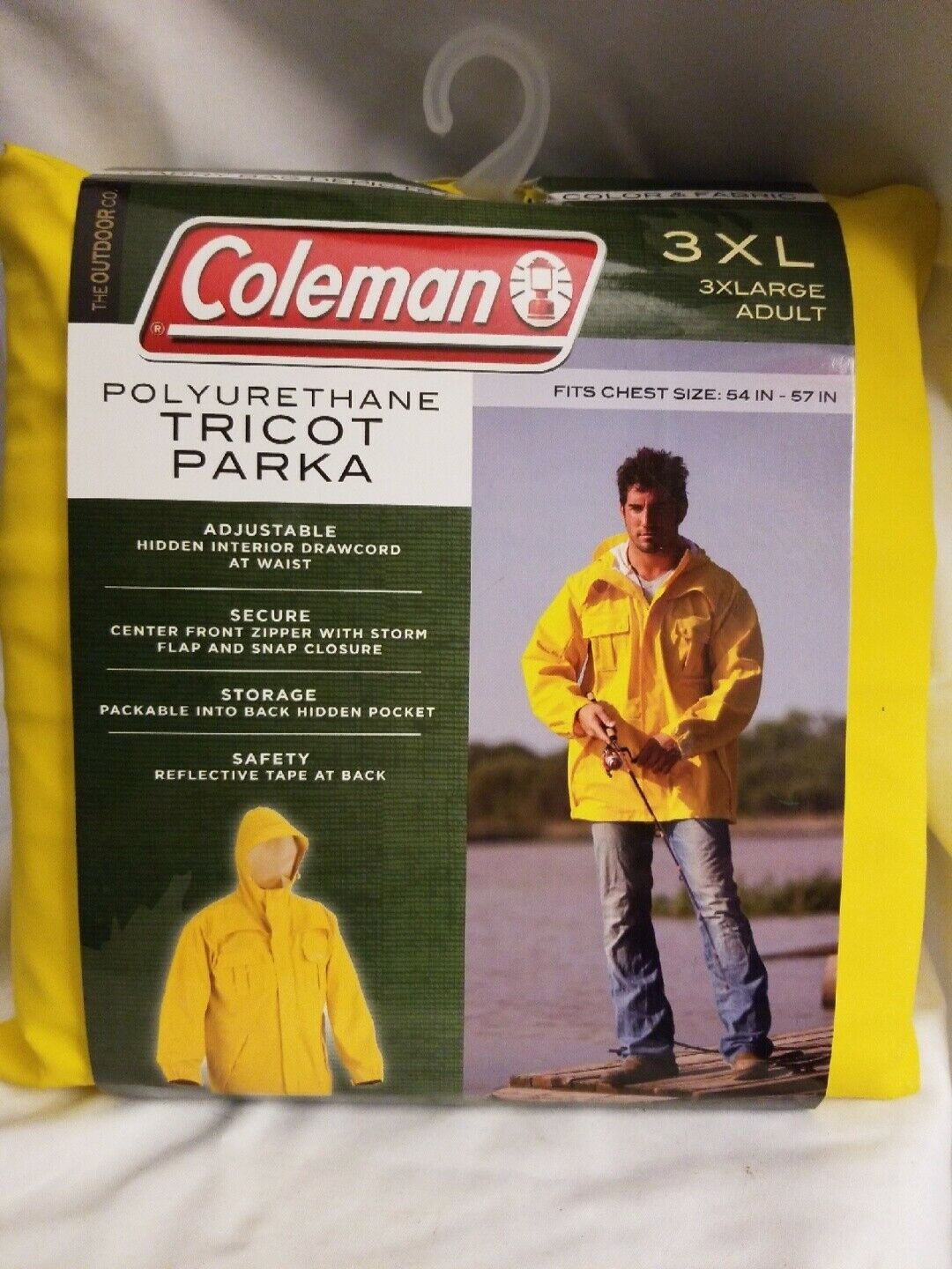 Primary image for Coleman Polyurethane Tricot Parka Yellow 3XL Adult